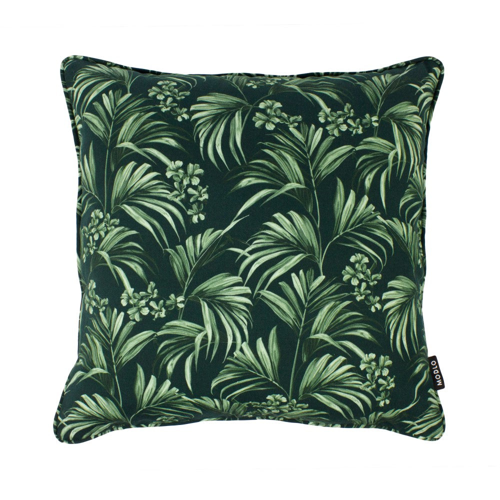 Kentia: Cotton Cushion - Dark Green