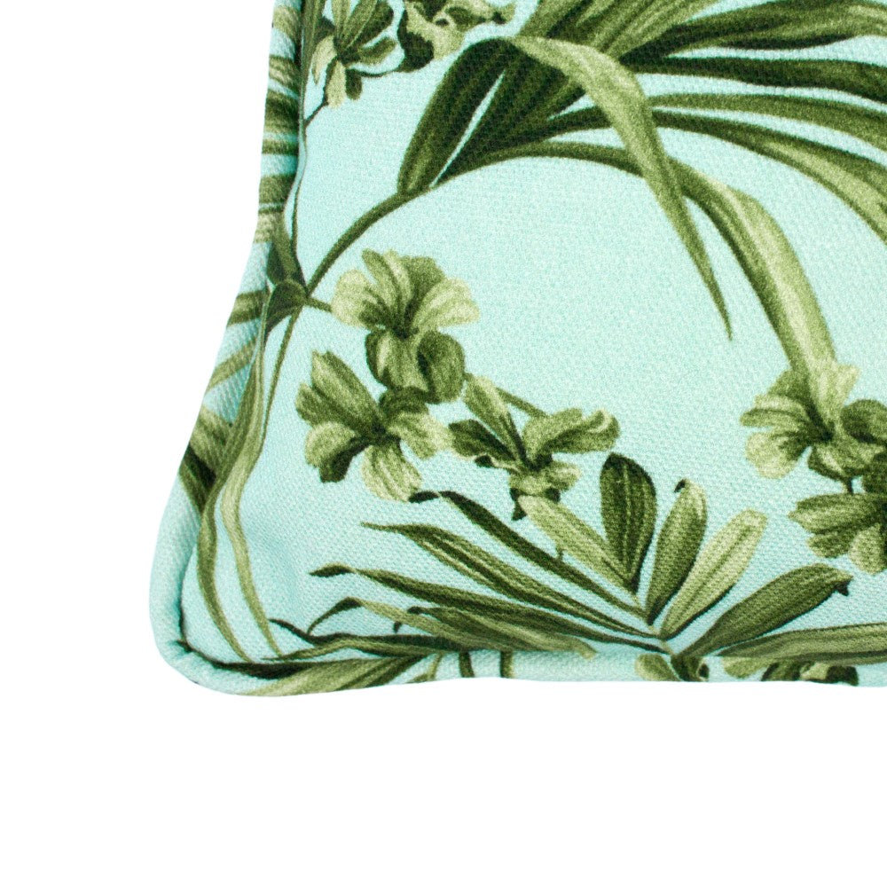 Kentia: Small Cushion - Blue & Green