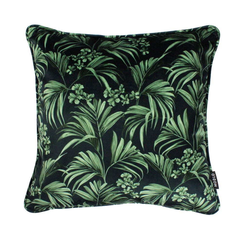 Kentia: Velvet Cushion - Dark Green