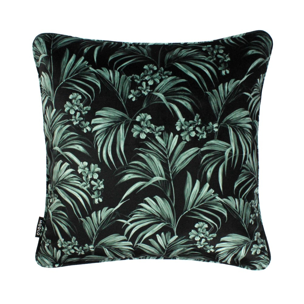 Kentia: Velvet Cushion - Pewter Blue