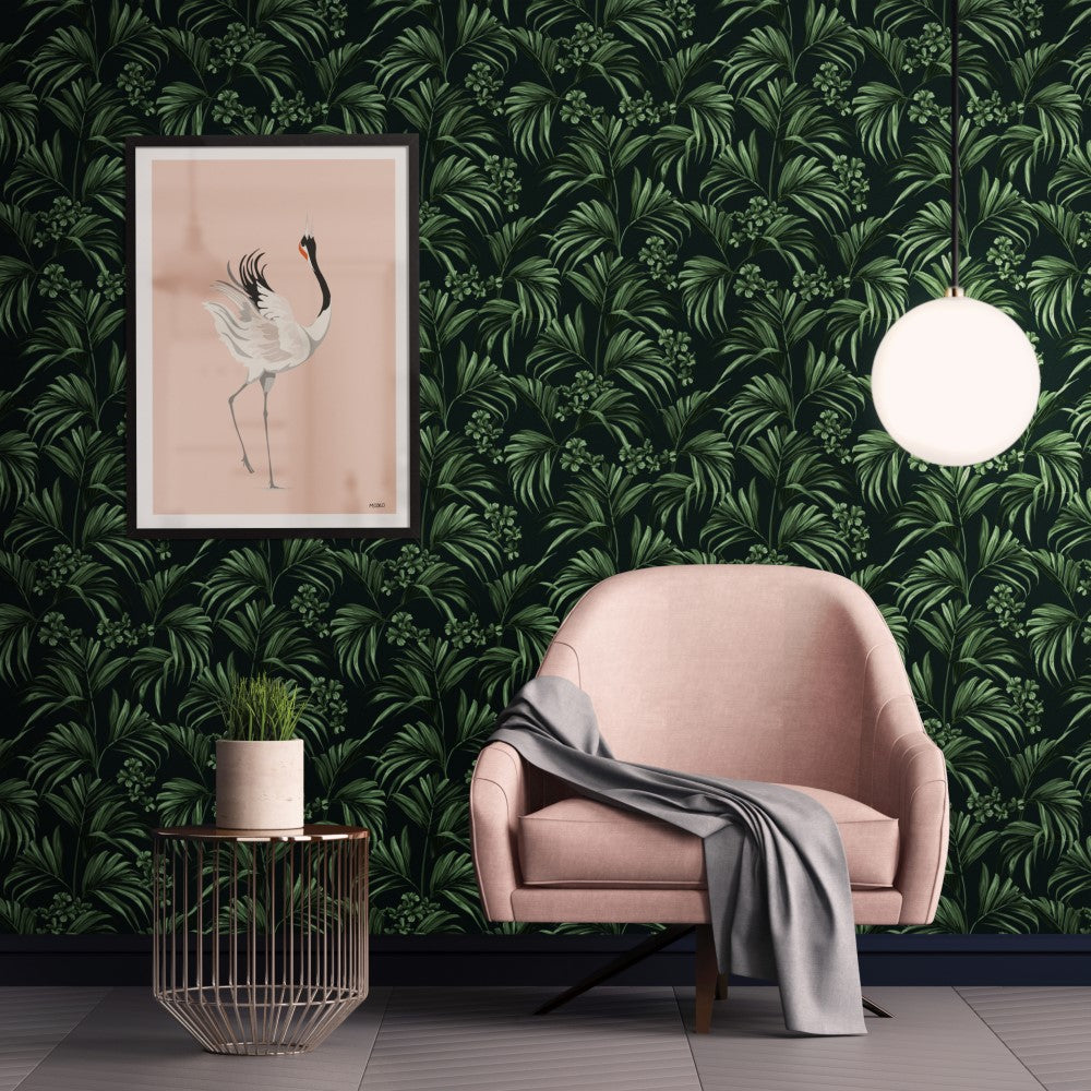 Kentia: Wallpaper - Dark Green