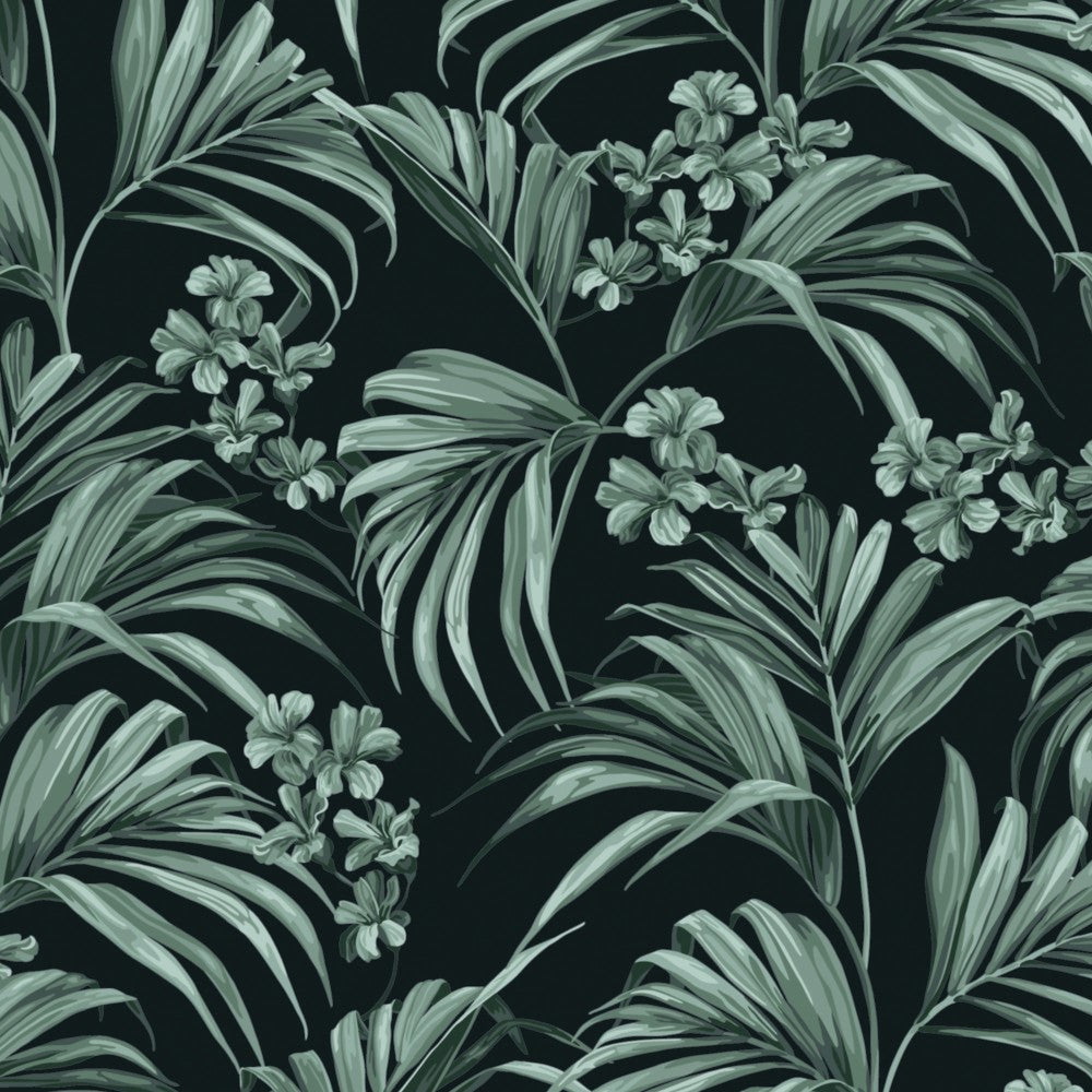 Kentia: Wallpaper - Pewter Blue