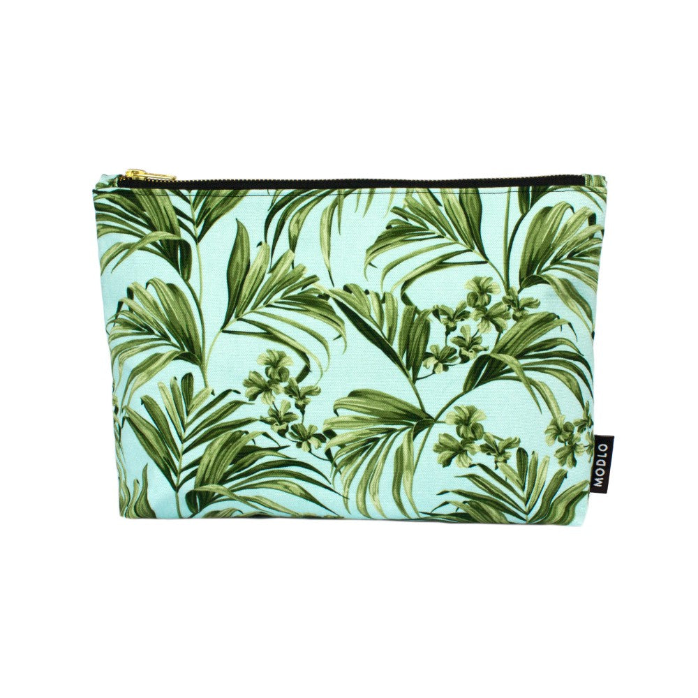 Kentia: Large Wash Bag - Blue & Green