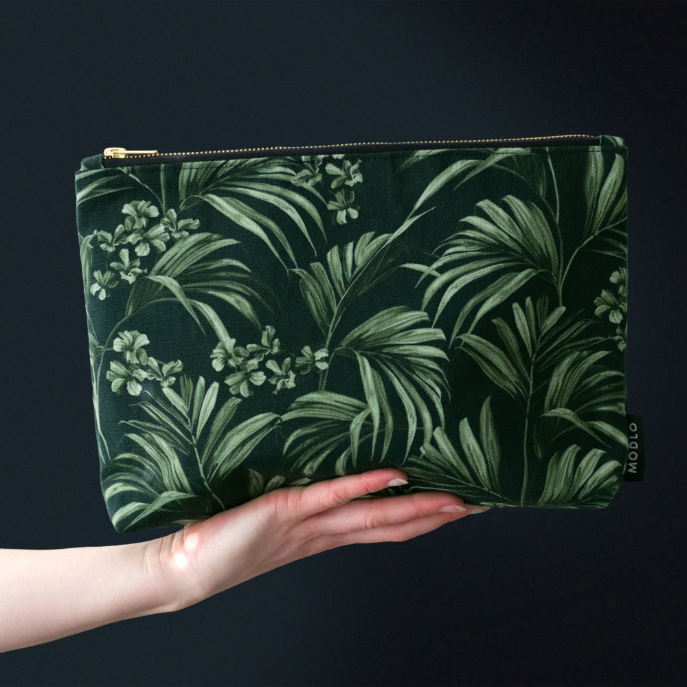Kentia: Large Wash Bag - Dark Green