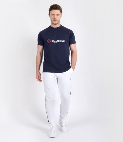 Jack Cotton Tee - Navy/Red/White