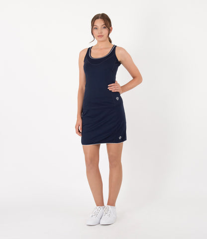 Anne Tank - Navy/White