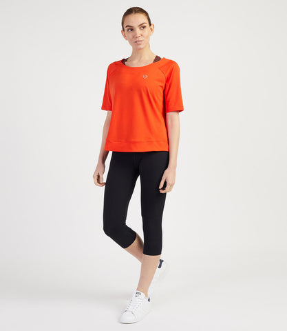Bridget Loose Tee-Flame