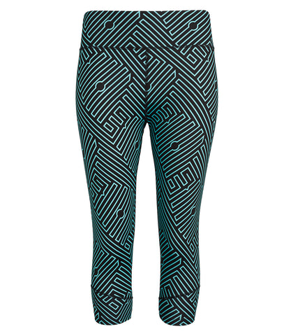 Georgia Capri Leggings - Black/Ionian Print