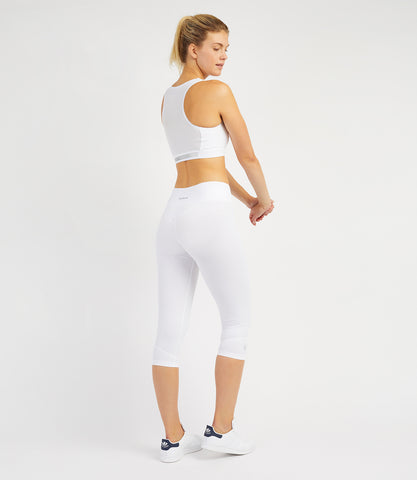 Georgia Capri Leggings - White
