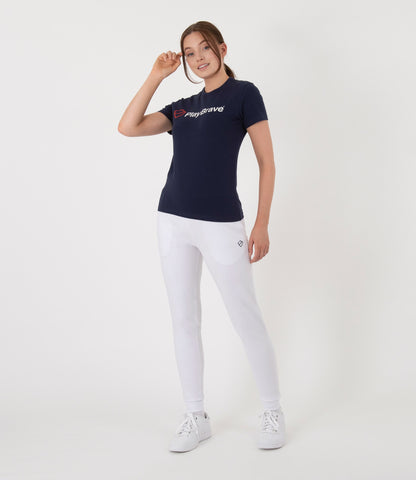 Margaret Pant - White/Navy
