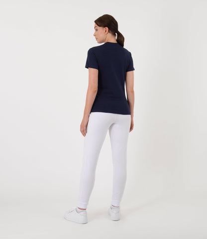 Sophie Cotton Tee - Navy/Red/White