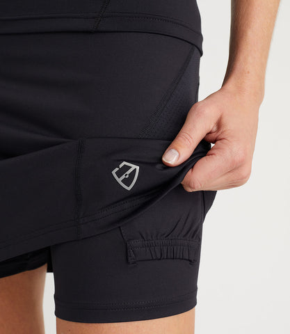 Monique Plus 2 Inches Technical Skort Black