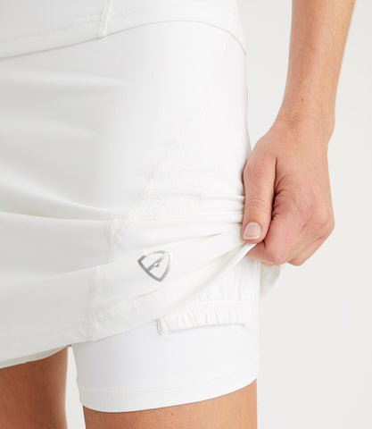 Monique Plus 2 Inches Technical Skort White