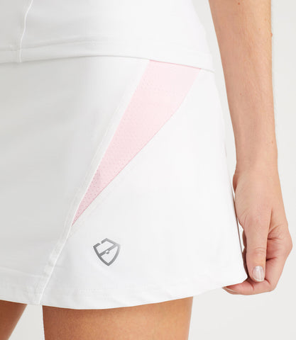 Monique Technical Skort White/Pink