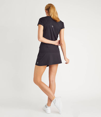 Nadia Technical Wrap Skort Black