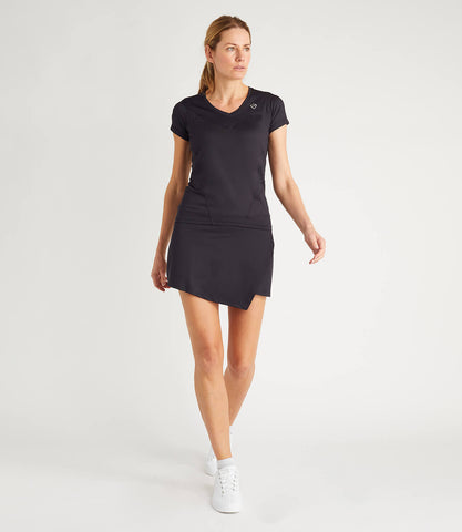 Nicole Technical V Neck Tee - Black