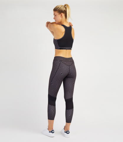 Louise 7/8 Leggings-Black/Anthracite Print