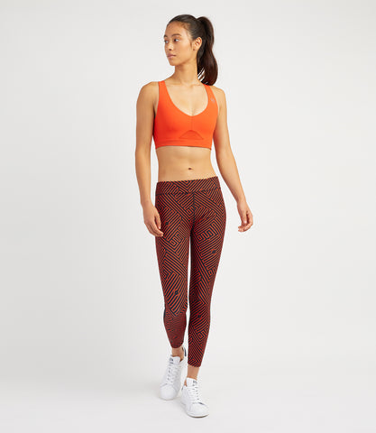 Louise 7/8 Leggings-Black/Flame Print