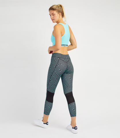 Louise 7/8 Leggings - Black/Ionian Print
