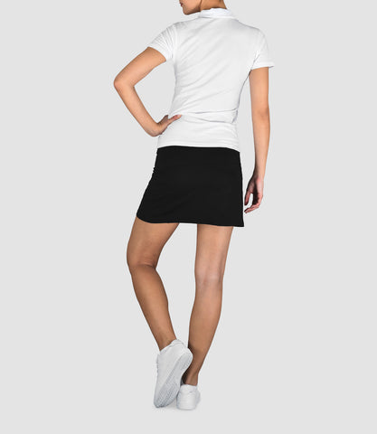 Penelope Cotton Button Neck Polo - White