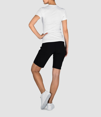 Samantha Longer Woven Short Black