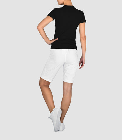Samantha Longer Woven Short - Black
