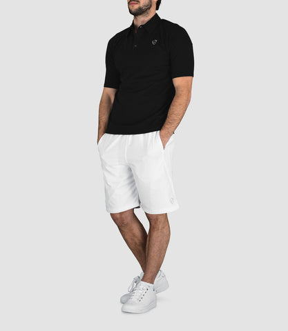 Fabrice Cotton Button Neck Polo