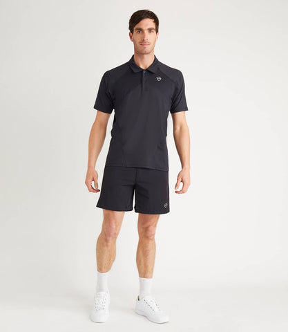Sebastian Technical Polo Mens Black