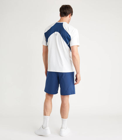 Terence Technical Tee White/Blue