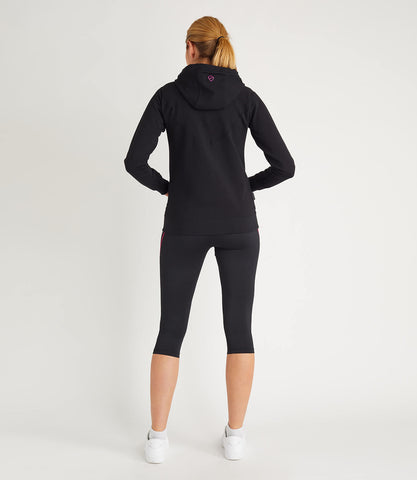 Tour Cotton Hoodie Womens Black