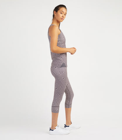 Georgia Capri Leggings - Ant/Pale Rose Print