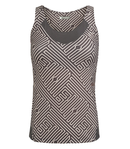 Veronica Performance Vest - Anthracite/Pale Rose Print