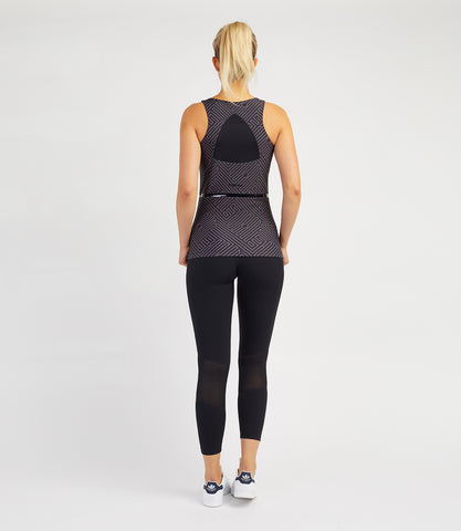 Veronica Performance Vest - Black Anthracite Print