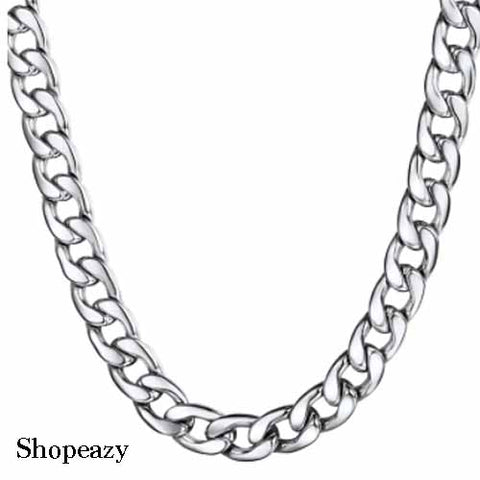 Men's Chain Necklace Cuban Chain Hyperbole Fashion Hip Hop Stainless Steel-7mm