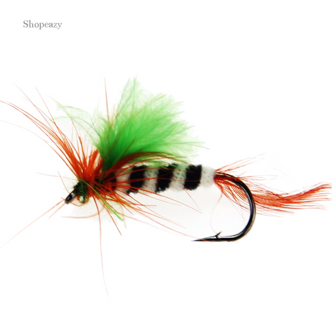Fly Trout Fly fishing Flies Assortment Artificial Bait with Wet Fly Hook 12pcs