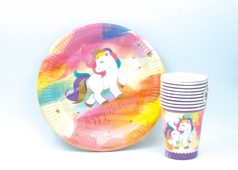 Unicorn Party Paper Dish & Cup Decoration Accessories