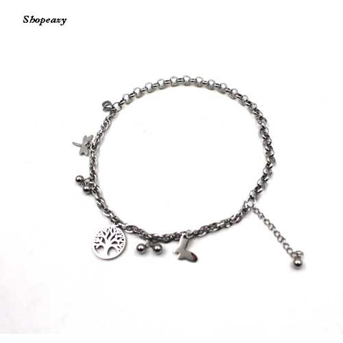 Bracelet Tree of Life& Buttefly Fashion Stainless Steel