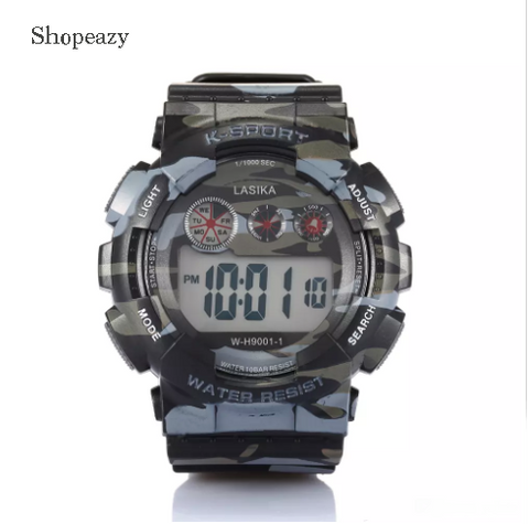 Camouflage Military Waterproof Watch Muliti-function Watch Dual Watch Day and Date for Outdoor Sports