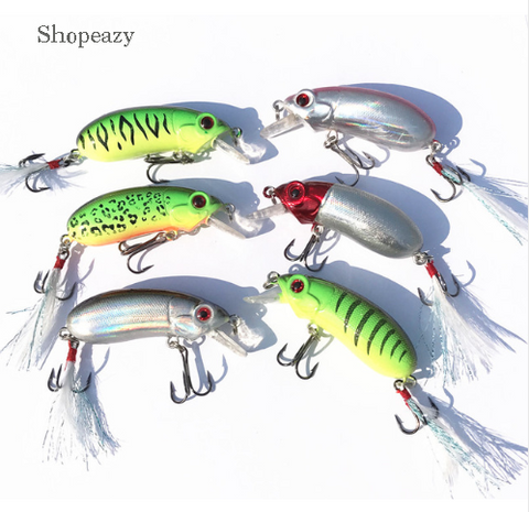 3D Fishing lure hard Clubby fat Crank bait Fishing Tackle5cm / 10g