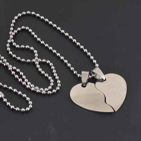 Heart Shape Stainless Steel Pet Dog Tags + 60cm Bead Chains Fashion men pendants Army dog tags