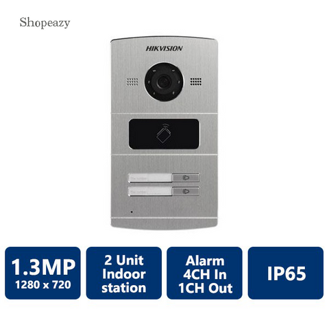 IP Water Proof Metal Villa Video Intercom Door Phone Station, 2-Unit