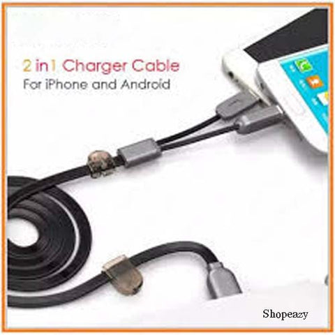 2-in-1 At The Same Time Charging and Data Transfer Magnet Cable ( Micro usb + For iPhone)