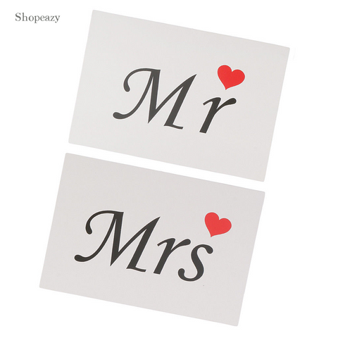 Wedding Sign Set to Hold on as Photo Prop - Available in  in black letters