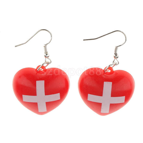 Hospital Heart Earrings