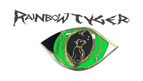 enamel pin lapel pin black cat | rainbowtyger