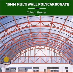 16mm Multiwall Polycarbonate Sheets Bronze