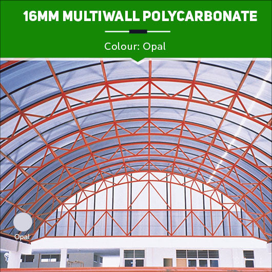 16mm Multiwall Polycarbonate Sheets Opal