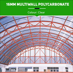 16mm Multiwall Polycarbonate Sheets Clear