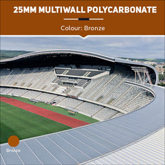 25mm Multiwall Polycarbonate Sheets Bronze