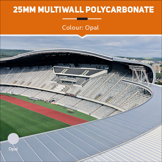 25mm Multiwall Polycarbonate Sheets Opal